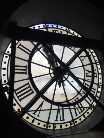 The famous clock inside the Musée d'Orsay